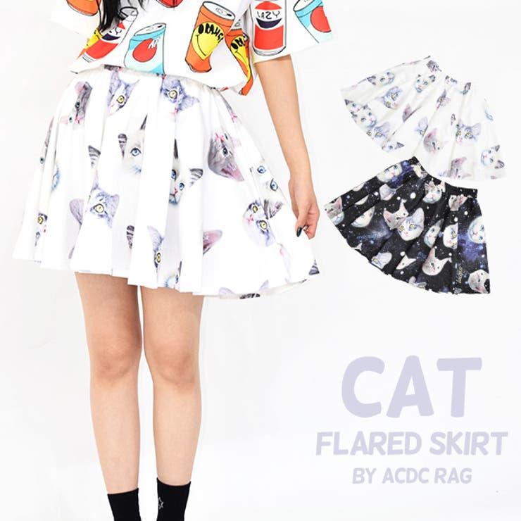 CATフレアスカート ネコ 猫   ACDCRAG   詳細画像1