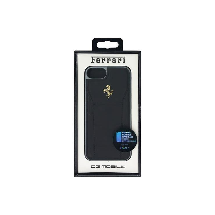 Ferrari公式ライセンス商品iPhone8/iPhone7488HardCaseBlack正規品レザーGoldLogo本革ハードケースカーブランドFESEGHCP7BK | 詳細画像