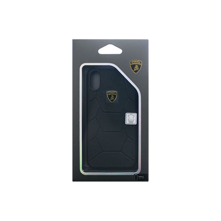Lamborghini公式ライセンス商品iPhoneXAventadorD7BackcoverBK本革+TPUハードケースカーブランドLB-TPUPCIPX-AVD7-BK | 詳細画像