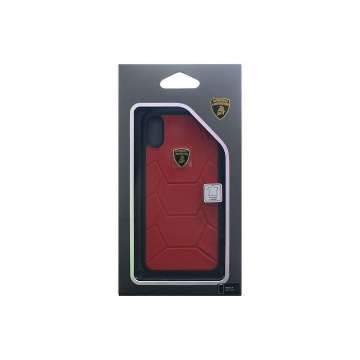 Lamborghini公式ライセンス商品iPhoneXAventadorD7BackcoverRD本革+TPUハードケースカーブランドLB-TPUPCIPX-AVD7-RD | 詳細画像