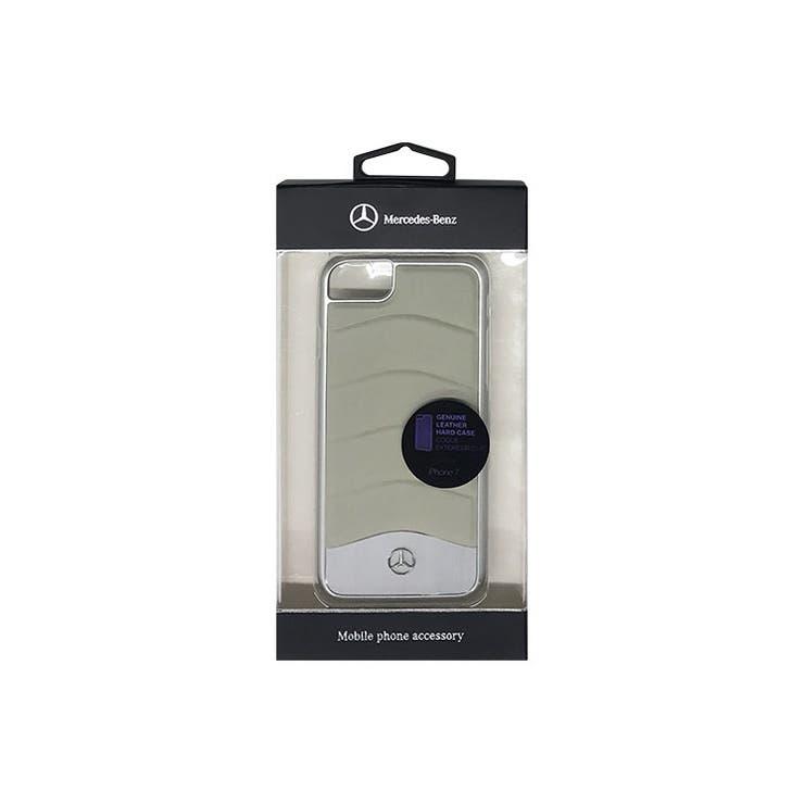 Mercedes-Benz公式ライセンス商品iPhone7専用ケースWAVEIII本革Genuineleather+ヘアライン加工アルミニウムハードCase-Crystalグレー自動車ブランドメンズおしゃれかっこいいシンプルエアージェイMEHCP7CUSGR | 詳細画像