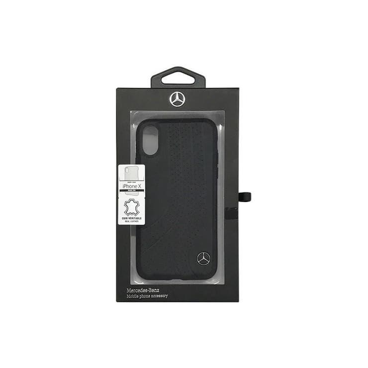 Mercedes-Benz公式ライセンス商品iPhoneXNEWBOWII正規品レザーHardCaseBlack本革ハードケースカーブランドMEHCPXPCSBK | 詳細画像