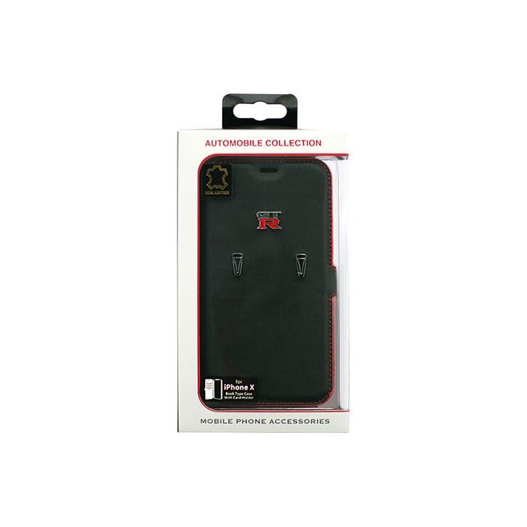 NISMO公式ライセンス商品iPhoneXケースNISSANGT-R本革手帳型CaseforiPhoneX自動車ブランドメンズおしゃれかっこいいシンプルエアージェイNR-PX-B1BK | 詳細画像