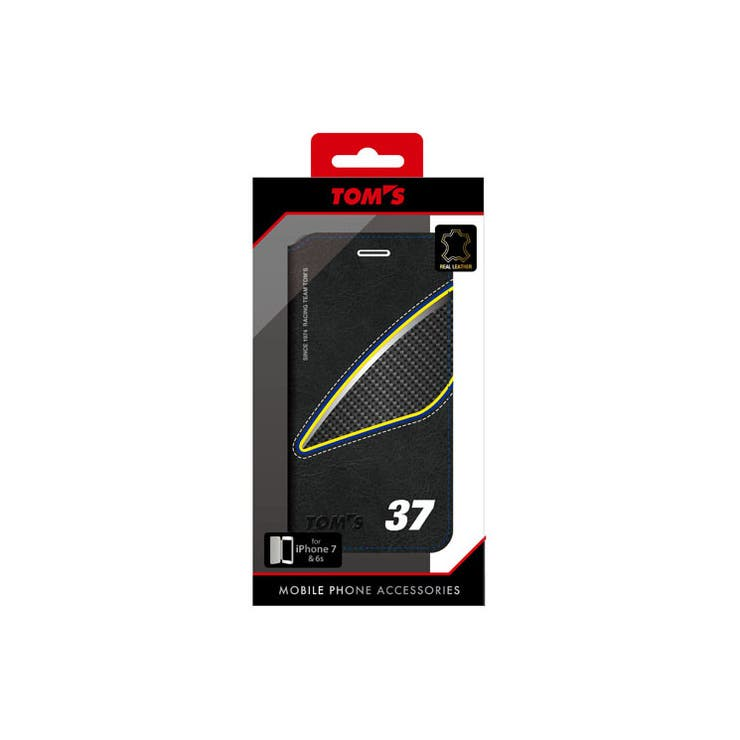 TOM'S公式ライセンス商品iPhone8/iPhone7/6s/6TOM`S本革iphone7/6S用BOOK型ケース37本革フリップケースカーブランドTOM-P7B2BL | 詳細画像