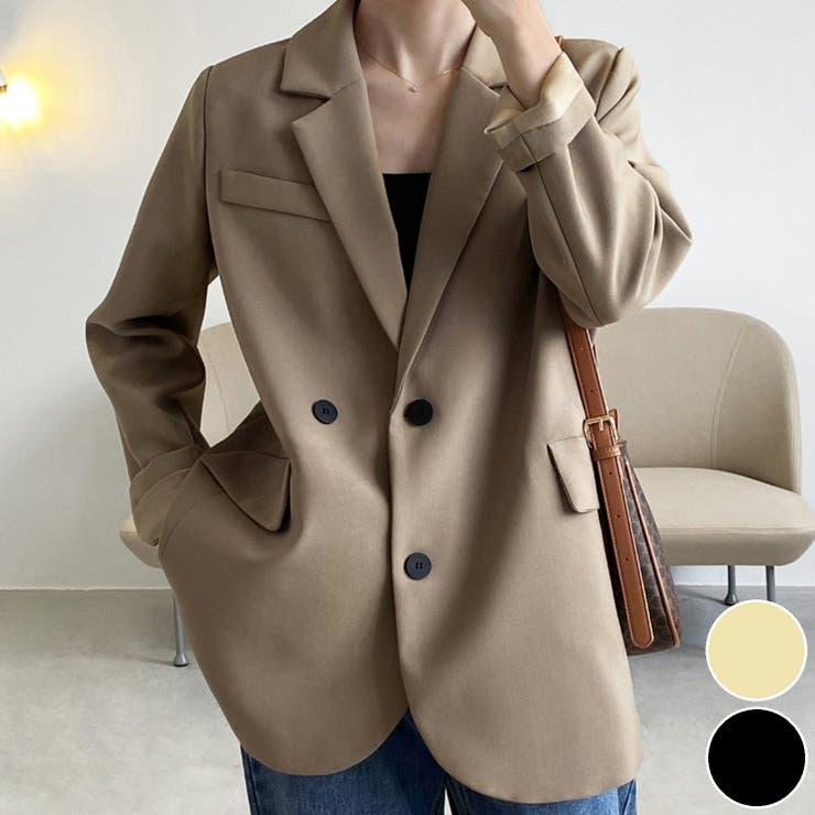 2021新作 韓国風無地テーラードジャケット 韓国ファッション   aimoha    詳細画像1