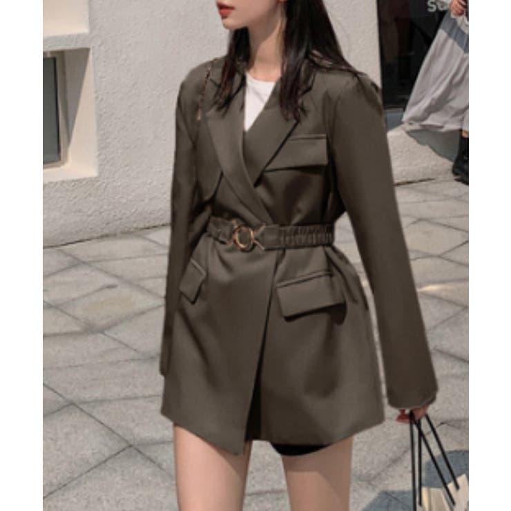 シンプルテーラードジャケット 韓国ファッション ワンピース   aimoha    詳細画像1