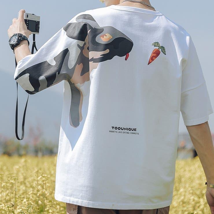 新作 個性派 迷彩うさぎバックプリントtシャツ | HOOK | 詳細画像1
