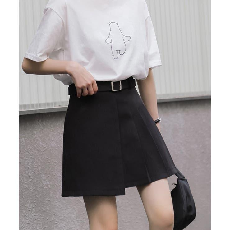 2021新作 ベルト付きデザインミニスカート 韓国ファッション | aimoha  | 詳細画像1
