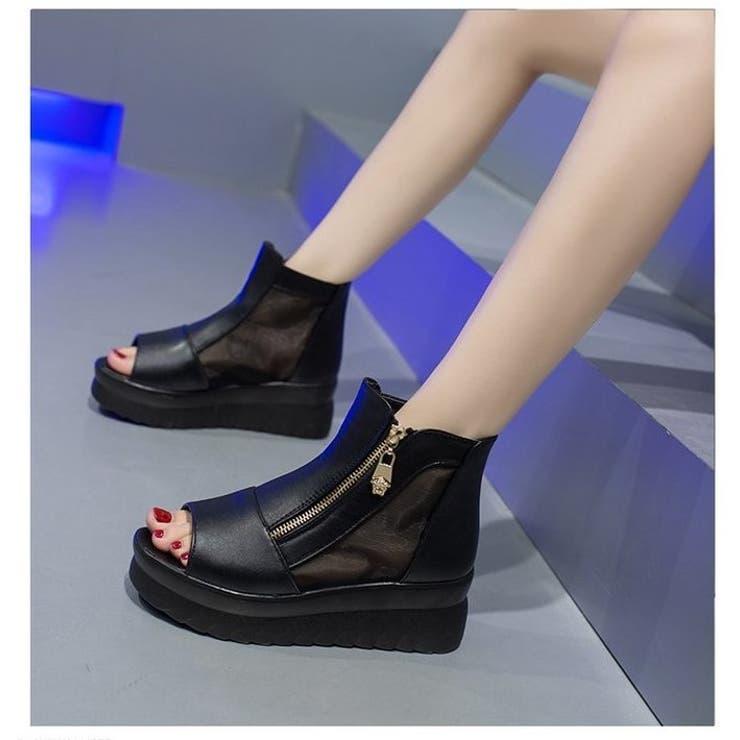 2021先行 厚底ブーツサンダル 韓国ファッション   aimoha    詳細画像1