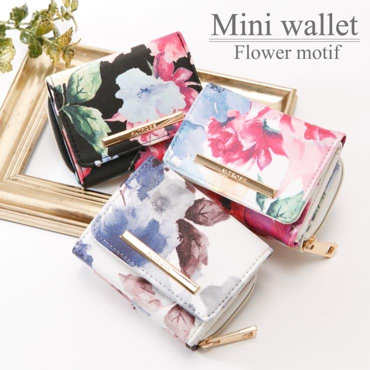 水彩花柄折りたたみミニ財布 ALTROSE アルトローズ | ALTROSE | 詳細画像1