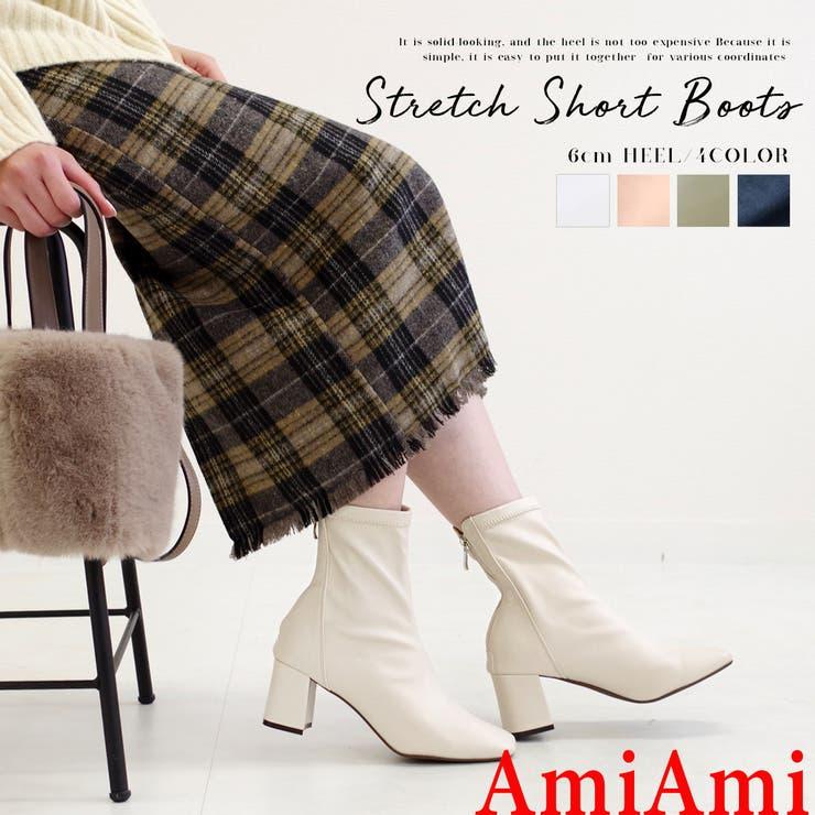 人気商品再入荷 スクエアトゥ ブーツ | AmiAmi | 詳細画像1