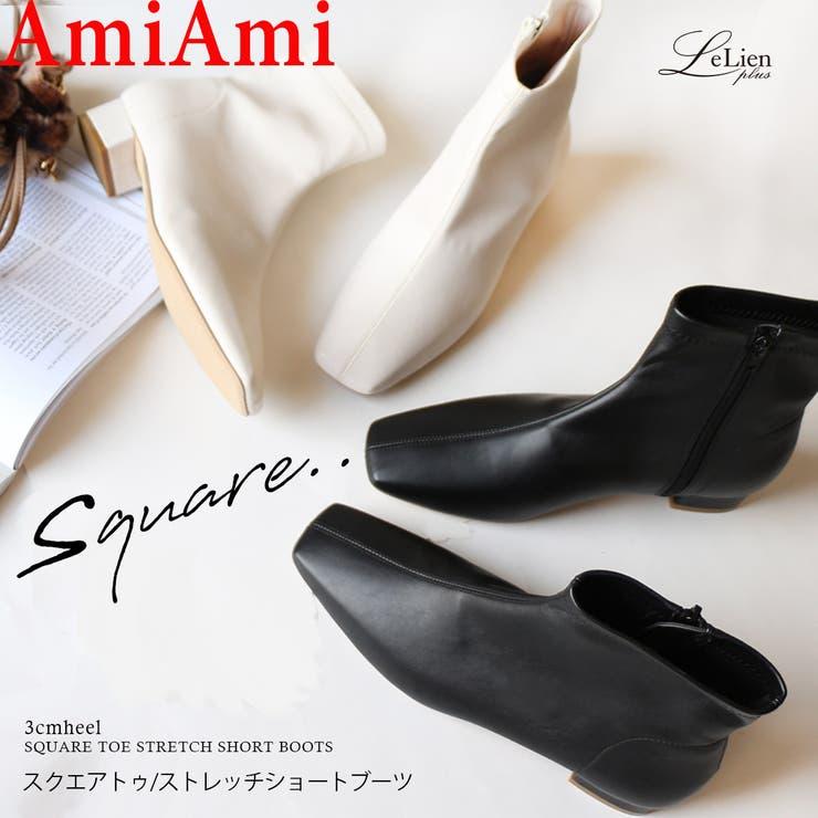 ブーツ ファスナー ローヒール   AmiAmi   詳細画像1