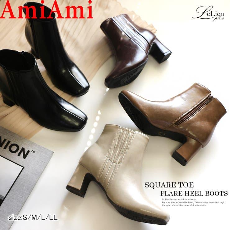 ブーツ 太ヒール ファスナー | AmiAmi | 詳細画像1