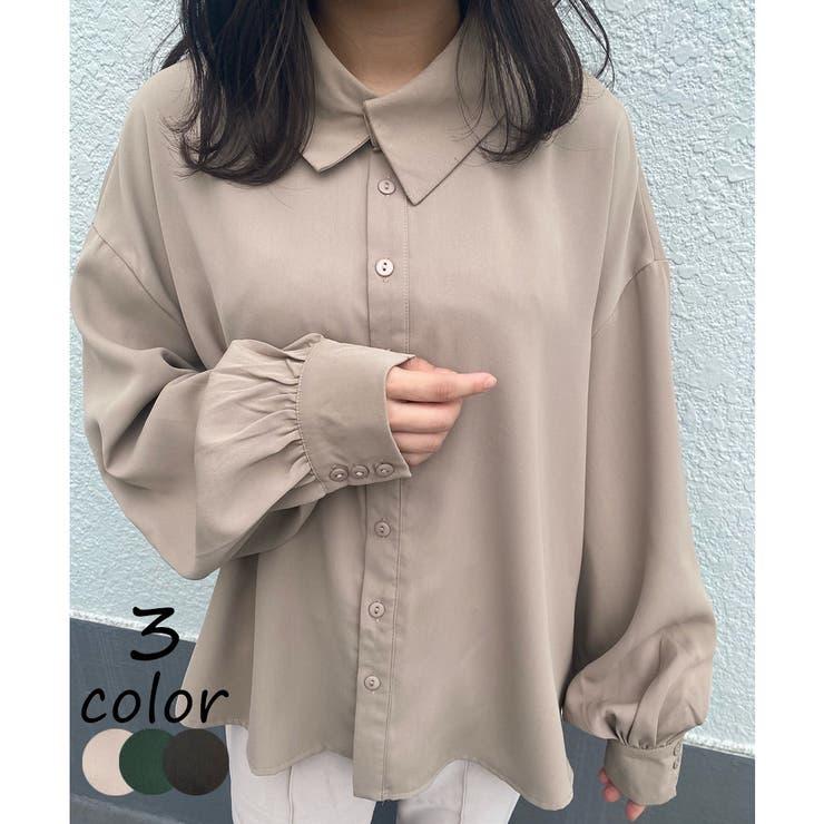アシンメトリーカラーシャツ | JUNOAH | 詳細画像1