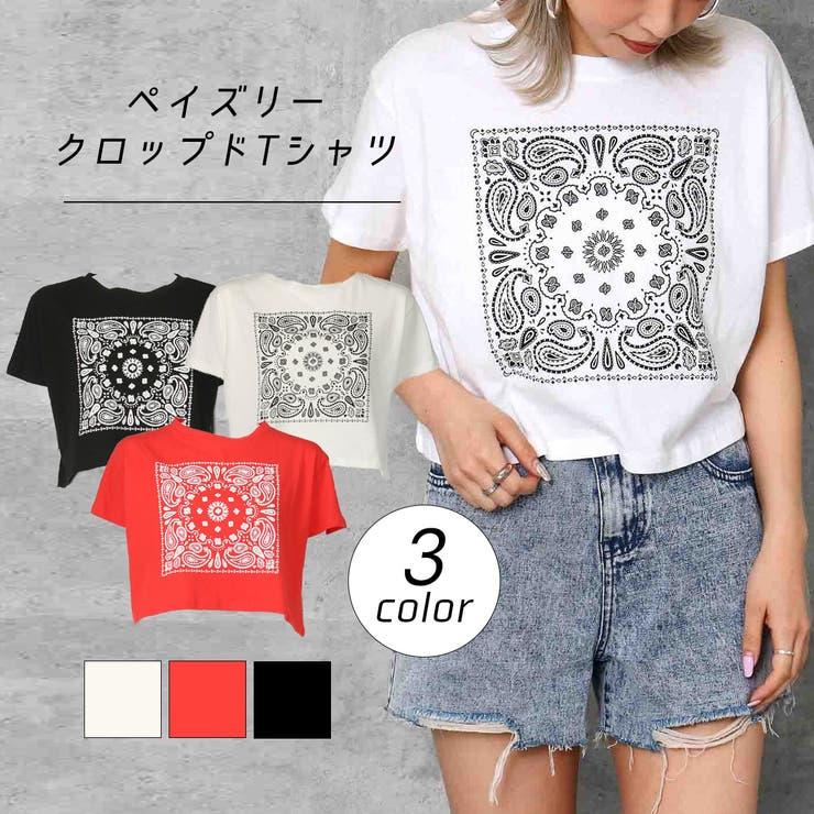 ペイズリークロップドTシャツ | 詳細画像
