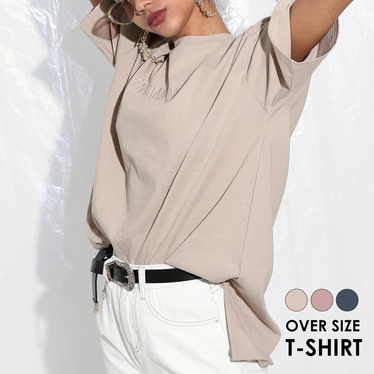刺繍オーバーサイズTシャツ | 詳細画像