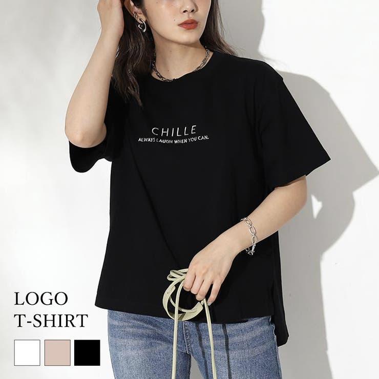 マーブル刺繍ロゴTシャツ / CHILLE / 523-6072 | ANAP | 詳細画像1