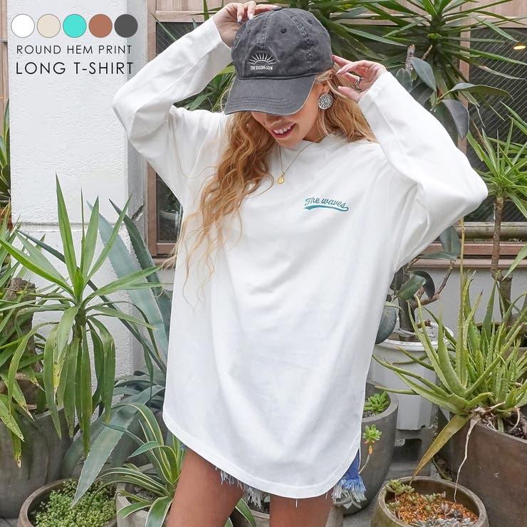 裾ラウンドプリントロングTシャツ anap mimpi | ANAP | 詳細画像1