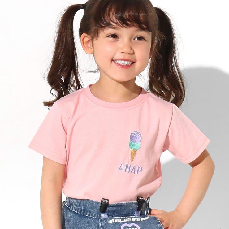 吸水速乾サマーワンポイントTシャツ ANAP KIDS | ANAP KIDS & ANAP GiRL | 詳細画像1