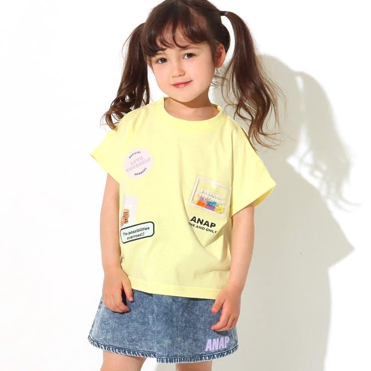 グミベアワッペン肩開きトップス / ANAP KIDS / 423-2461   ANAP KIDS & ANAP GiRL   詳細画像1