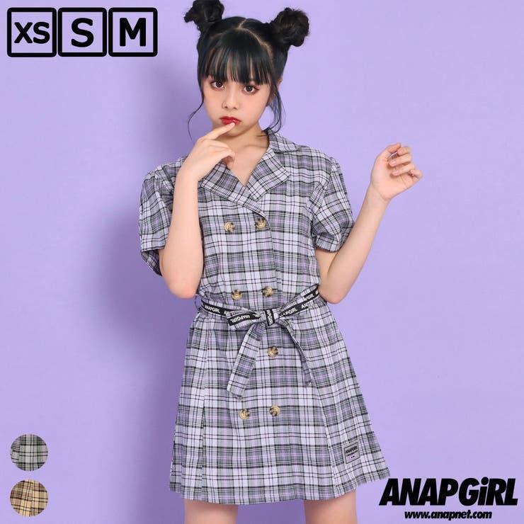 チェックシャツワンピース / ANAP GiRL / 917-6592   ANAP KIDS & ANAP GiRL   詳細画像1