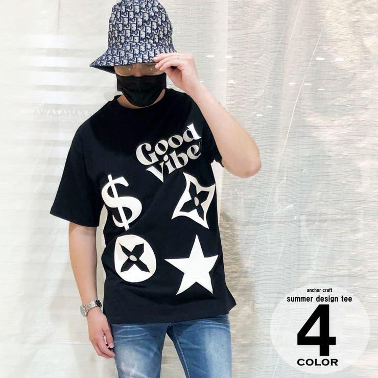 パイルモチーフ刺繍Tシャツ | anchor craft  | 詳細画像1
