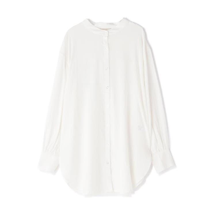 《Sシリーズ対応商品》T/Rスタンドネックチュニックシャツ | FREE'S MART | 詳細画像1