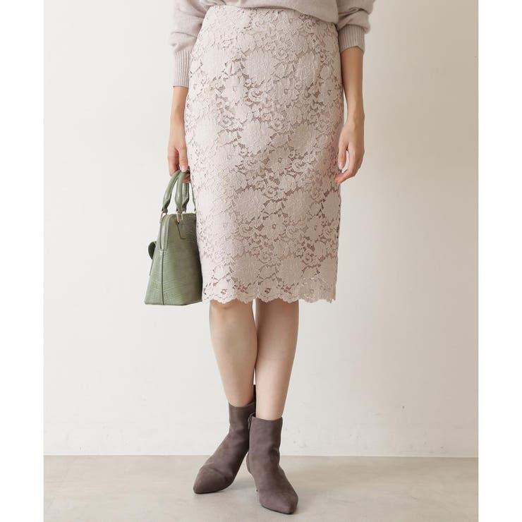 スカラレースタイトスカート   NATURAL BEAUTY BASIC   詳細画像1