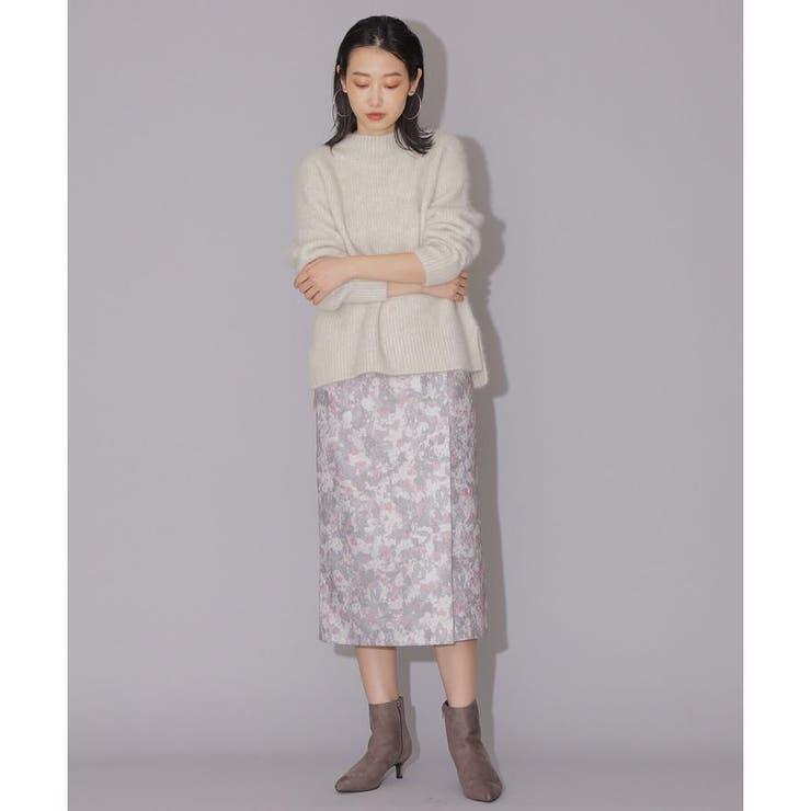ジャガードプリントスカート   NATURAL BEAUTY BASIC   詳細画像1