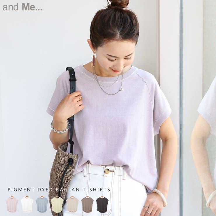 ピグメント加工 ラグラン Tシャツ | and Me | 詳細画像1