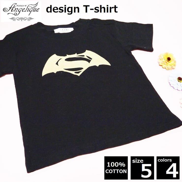 ■キッズ■スーパーマン×バットマン!ラメデザインロゴ半袖Tシャツ■グレー・水色・黒・白■子供服■