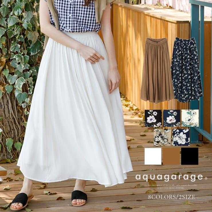 キシ丈 ギャザー スカート | aquagarage | 詳細画像1