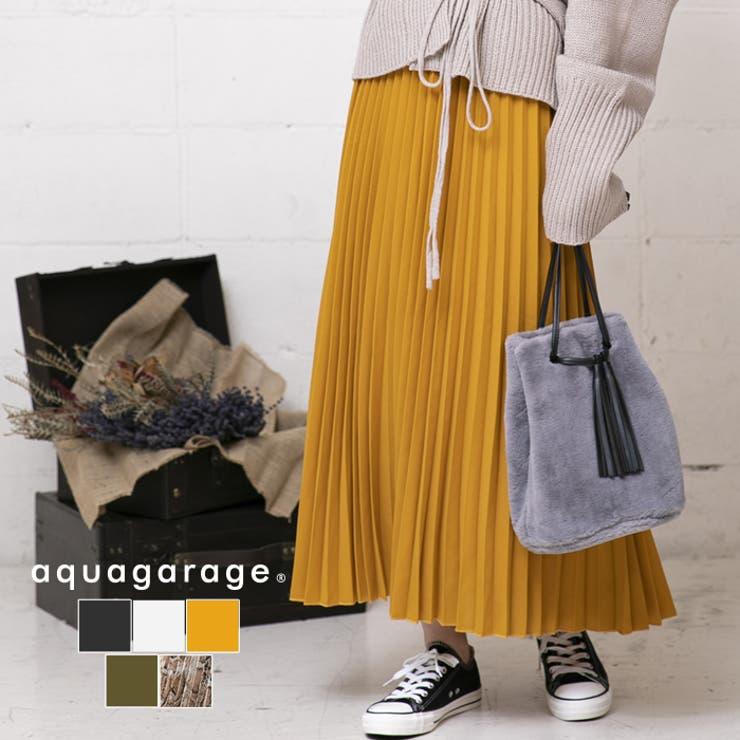 ロング プリーツスカート レディース | aquagarage | 詳細画像1