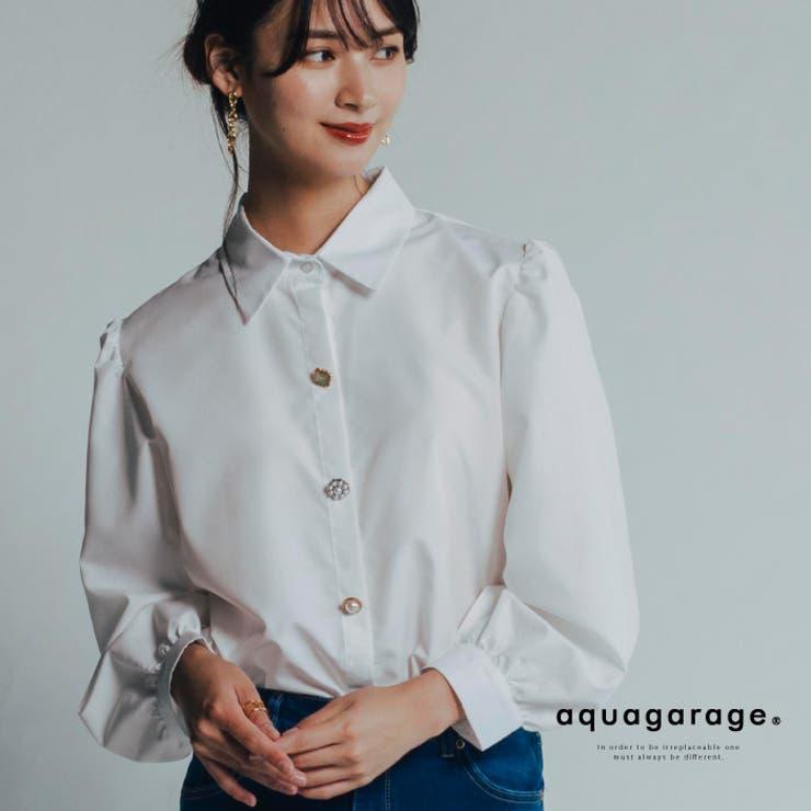 ランタンスリーブシャツ ブラウス レディース | aquagarage | 詳細画像1