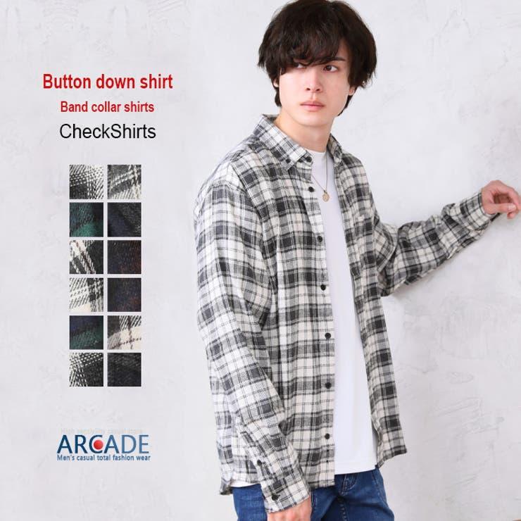 チェックシャツ メンズ ボタンダウンシャツ | ARCADE | 詳細画像1