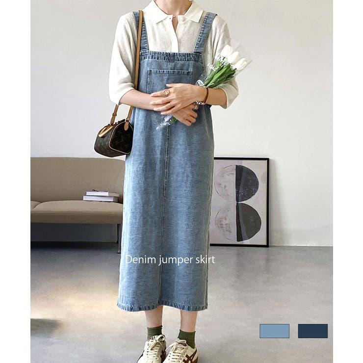デニムジャンパースカート サロペット ジャンパースカート | ARGO TOKYO | 詳細画像1