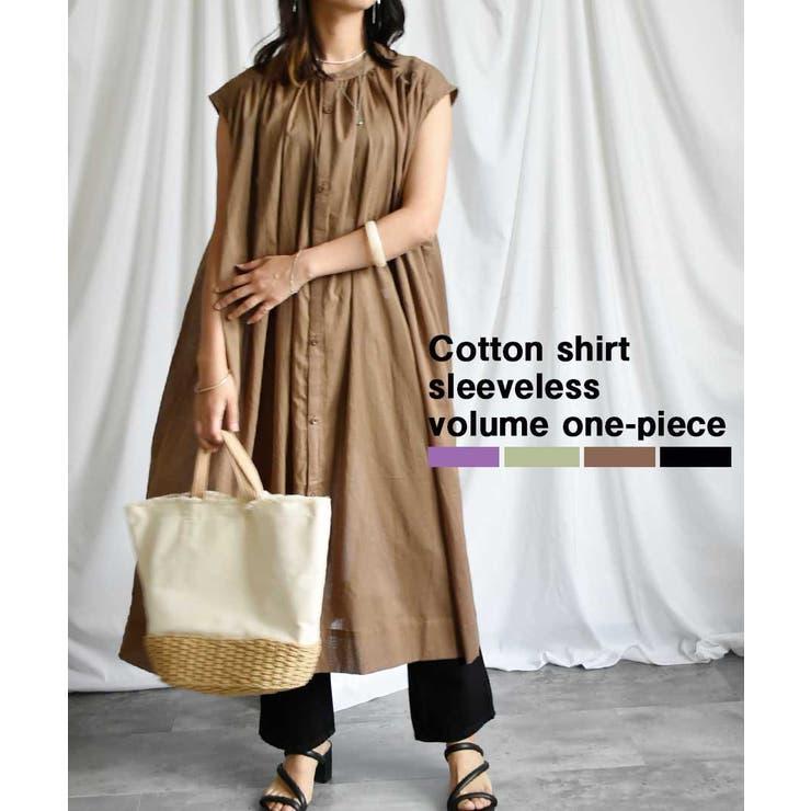 Cotton shirt sleeveless | ARGO TOKYO | 詳細画像1