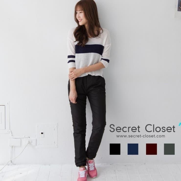 ☆ASAP.TW☆Secret Closet保温性風を防ぐ中綿パンツ