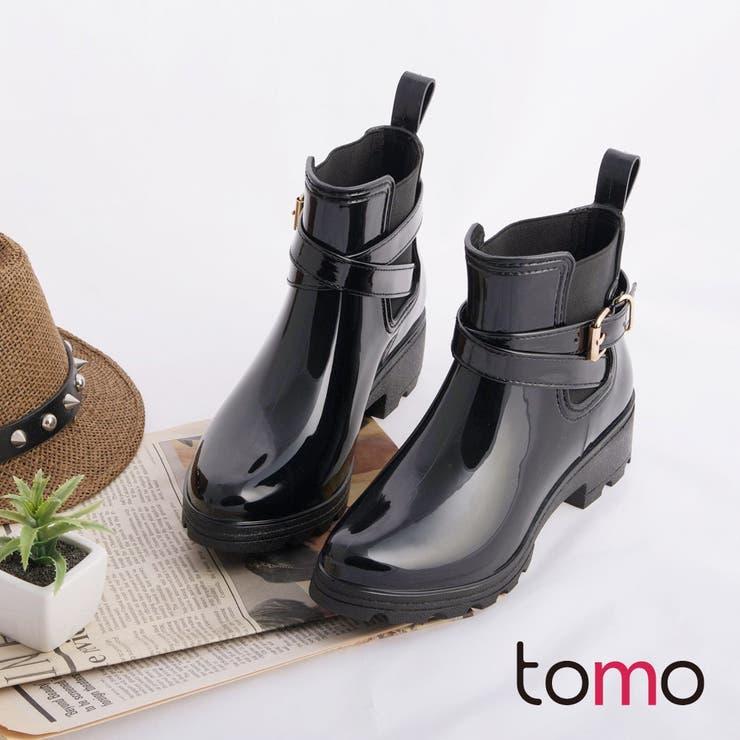 ☆ASAP.TW☆TOMO韓国ファッションマニッシュベルトエナメルブーツ