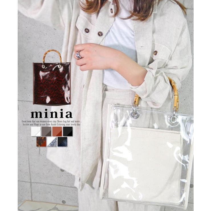 バンブークリアバッグ トートバッグ ハンドバッグ | minia | 詳細画像1