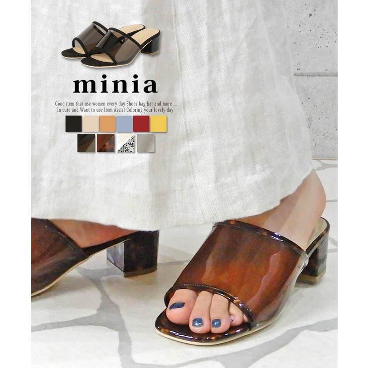 スクエアミュールサンダル minia 4 | minia | 詳細画像1