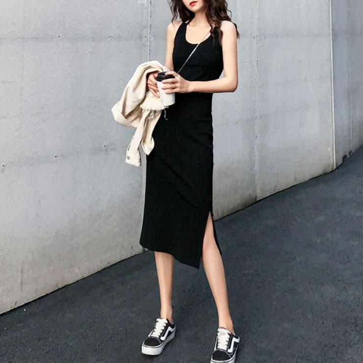 バッククロスタイトワンピ ワンピース 韓国ファッション | riri | 詳細画像1