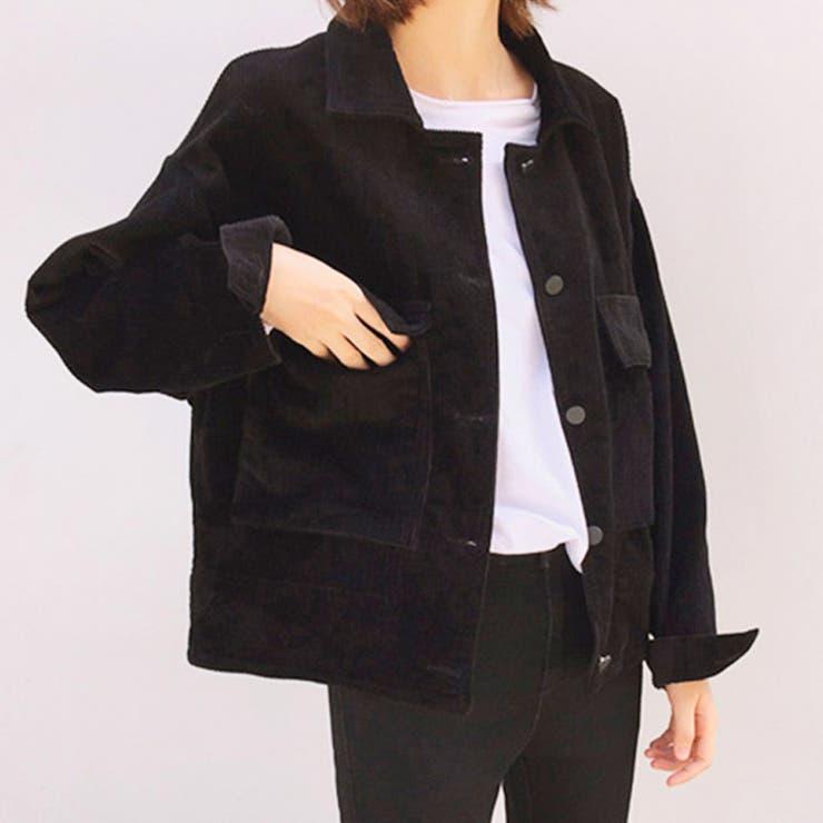 コーデュロイジャケット ブルゾン 韓国ファッション | riri | 詳細画像1