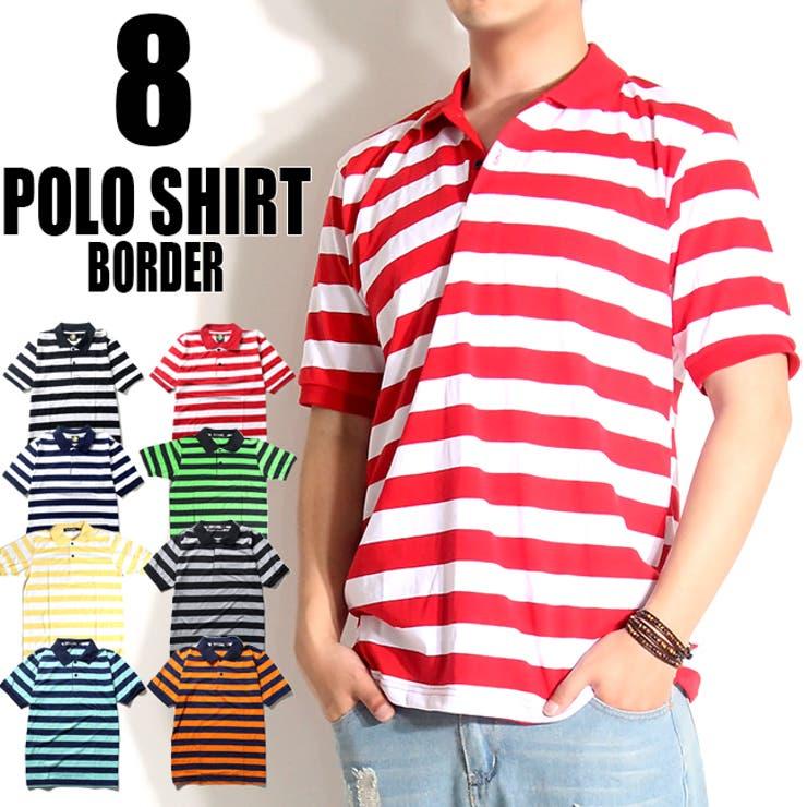 ボーダーポロシャツ メンズ ボーダーTシャツ | T-LINK | 詳細画像1