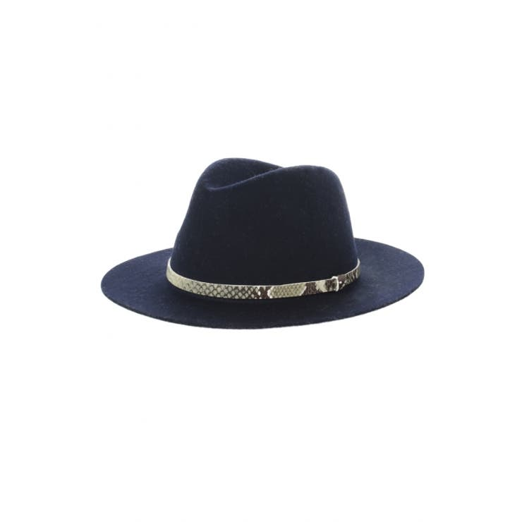 【AZUL by moussy】つば広合皮テープフェルトHAT AZUL by moussy/アズール バイマウジー/レディース/ハット/キャップ ハット