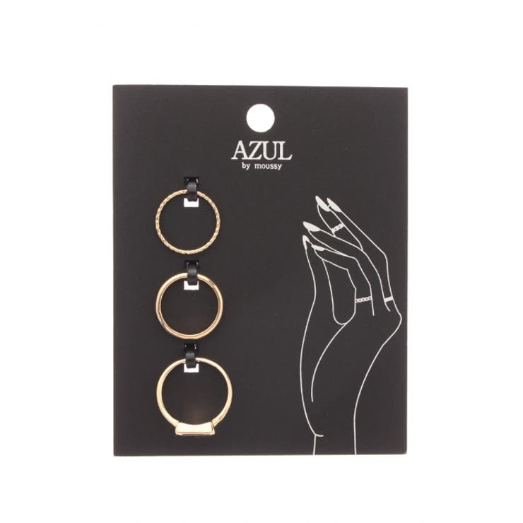 【AZUL by moussy】トライアングルストーンSETリング(CARD) AZUL by moussy/アズール バイマウジー/レディース/アクセサリー リング