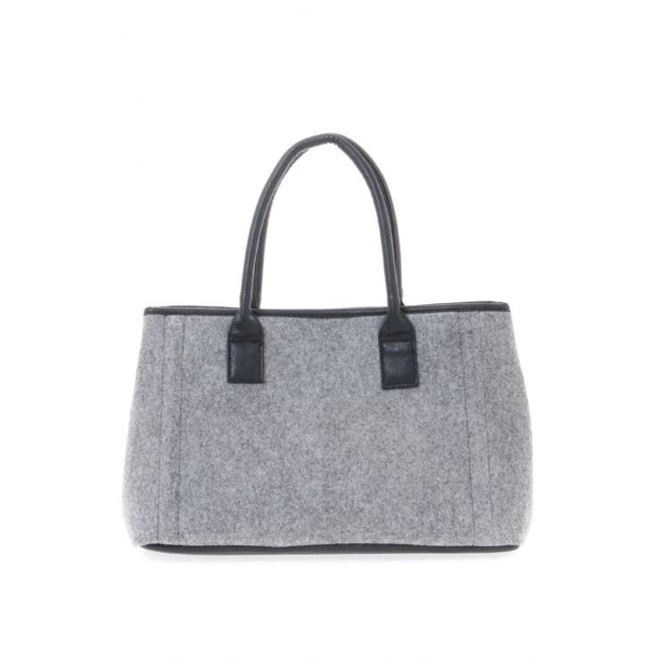 【AZUL by moussy】フェルトBOXトートバッグ AZUL by moussy/アズール バイ マウジー/レディース/バッグバッグ