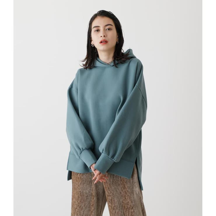 CARDBOARD MATERIAL HOODIE | AZUL BY MOUSSY | 詳細画像1