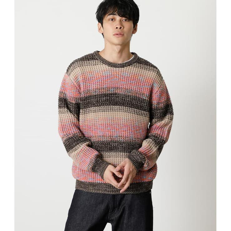MULTICOLOR WAFFLE KNIT | AZUL BY MOUSSY | 詳細画像1