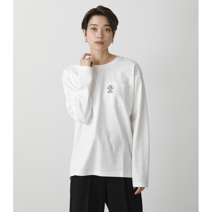 LOGO EMBROIDERY LONG SLEEVE   AZUL BY MOUSSY   詳細画像1